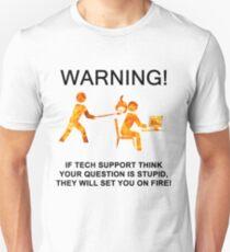 Tech support funny T shirt Unisex T-Shirt