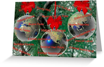 World christmas card with greetings in many languages greeting world christmas card with greetings in many languages by carol and mike werner m4hsunfo
