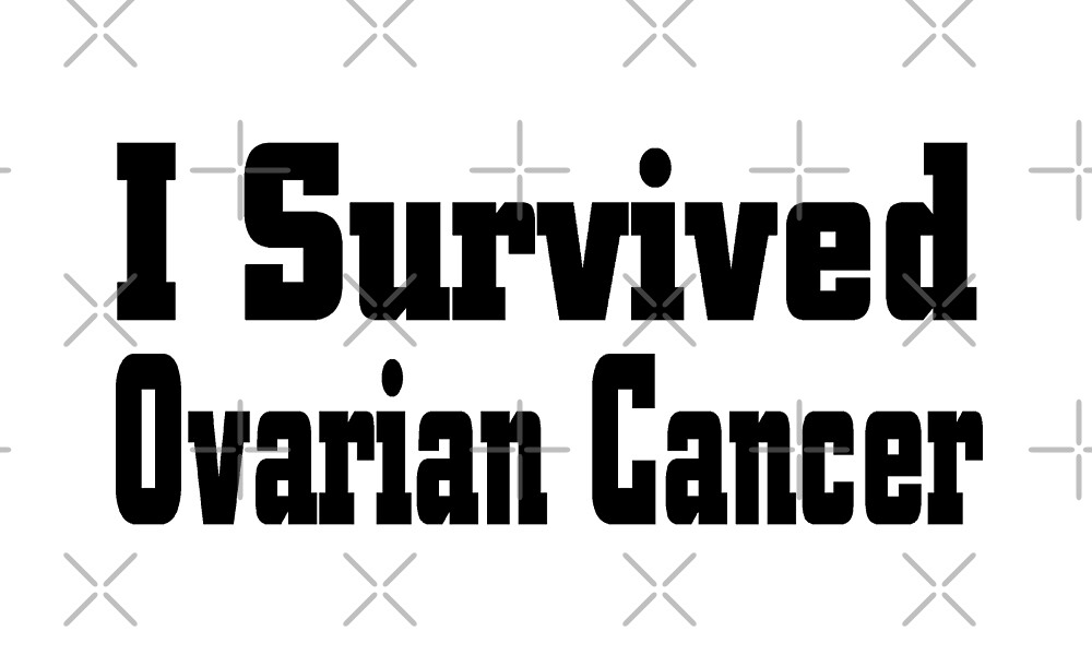 I Survived Ovarian Cancer - Ovarian Cancer T Shirt  by greatshirts
