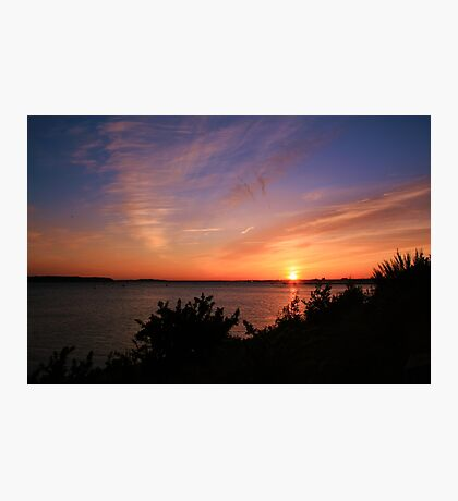 Sunset Over The Harbour Photographic Print