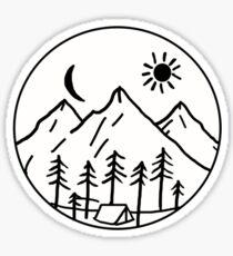 Mountain side view Sticker