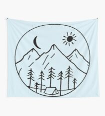Mountain side view Wall Tapestry