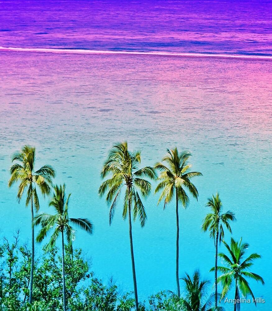 Moorea Purple Sunset by Angelina Hills