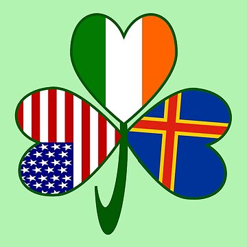 Aaland Islands Irish American Shamrock by AuntieShoe