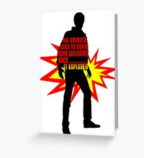 Rory Williams Exploded the Universe Greeting Card