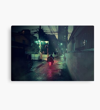 Neo Tokyo - Midnight Delivery Metal Print