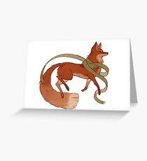 Scarf Fox Greeting Card