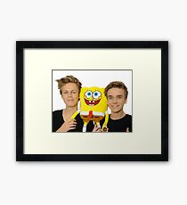 caspar lee and joe sugg Framed Print