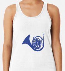 blaues Horn Racerback Tank Top