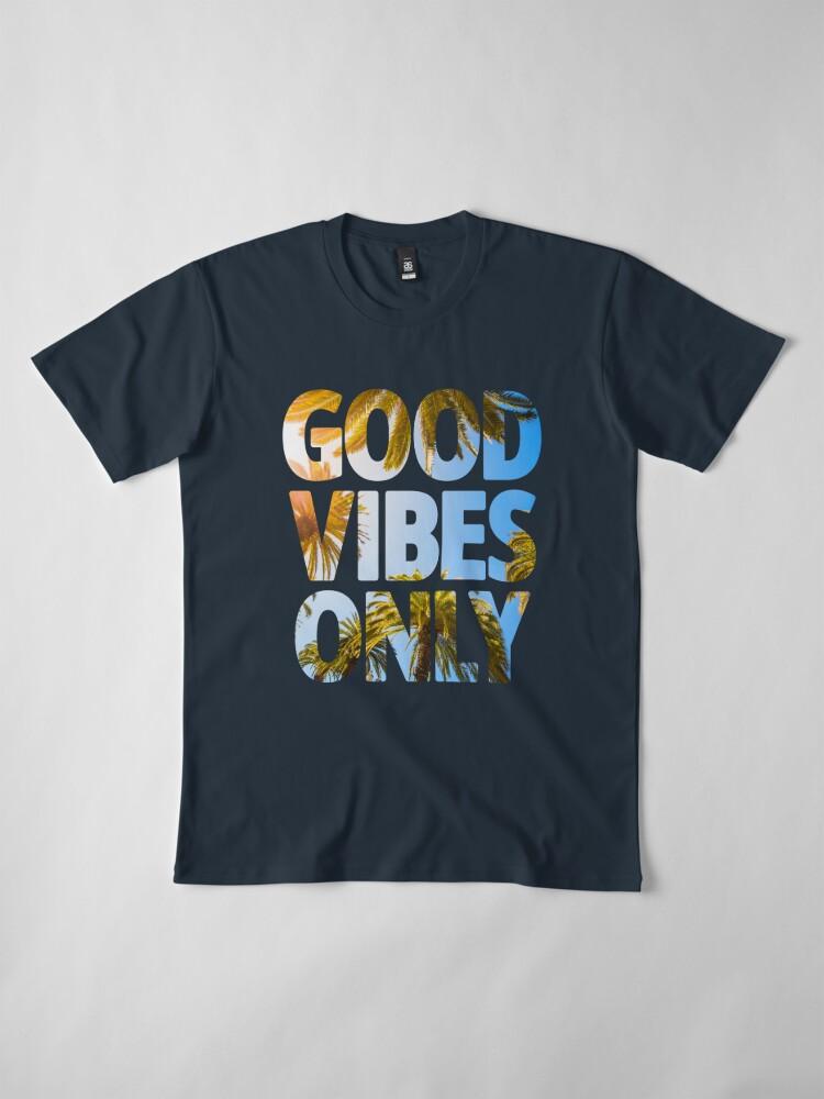 Alternative Ansicht von NUR GUTE SCHWINGUNGEN Premium T-Shirt