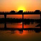 "Sunset over bridge by "" RiSH """