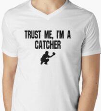 Trust Me I'm A Catcher - Funny Catcher Baseball T Shirt  V-Neck T-Shirt