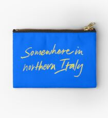 "Call Me By Your Name ""Somewhere In Northern Italy"" Studio Pouch"