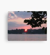 Sunset Over the River Canvas Print