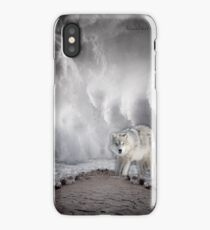 Wolf in the Middle of a Storm iPhone Case/Skin