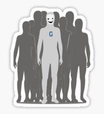 Human beings unite Sticker