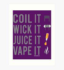 Ω VAPE | Coil Wick Juice Vape Art Print