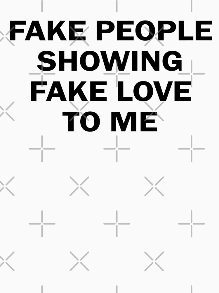 Fake People Showing Fake Love Me Mens Premium T Shirt By Red One48
