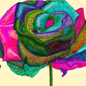 Pink Pedals (Rainbow Rose) by TheJoanofArt