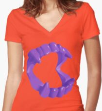 Fang-o-ween Women's Fitted V-Neck T-Shirt