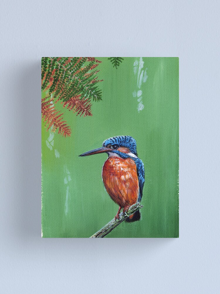Alternate view of Kingfisher Canvas Print