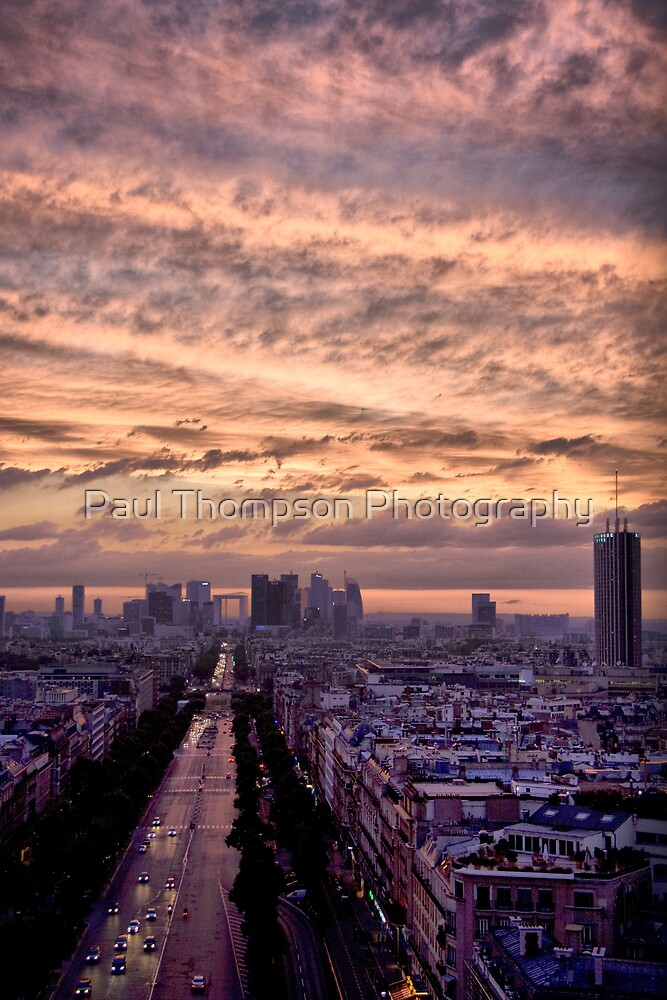 Red Sky Over Paris by Paul Thompson Photography