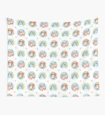Exotic Pets Pattern - Hamster, Budgie, Goldfish Wall Tapestry