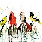 Birds on a Fence by Lisa Whitehouse
