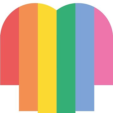 LGBT HEART COMMUNITY COLORFULL GAY LESBIAN PRIDE by revolutionlove