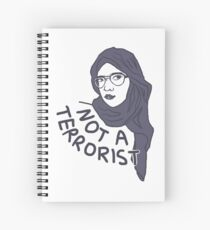 Not a Terrorist Spiral Notebook