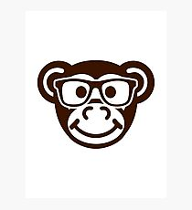 Monkey nerd hipster Photographic Print