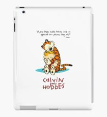Calvin and Hobbes Hugging iPad Case/Skin
