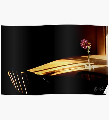 Table Flowers in the Afternoon Light Poster