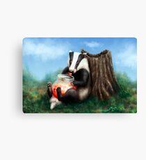 Marmalade Badger Impression sur toile