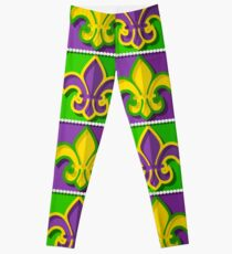 Mardi Gras  pattern Leggings