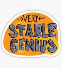 Stable Genius - supports planned parenthood Sticker