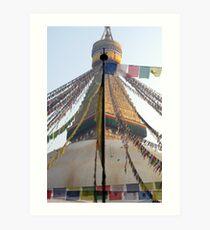 sacred eyes. bouddhanath, kathmandu Art Print