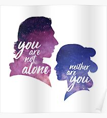 Reylo - You are not alone | Neither are you Poster