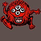 Cute Cartoon Red Monster by Cheerful Madness!! by cheerfulmadness