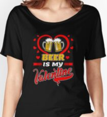 happy valentines day shirt valentines day for beer lover womens relaxed