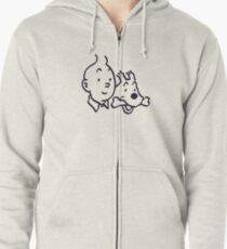 Tintin And Milou Merchandise Zipped Hoodie
