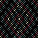 Trippy Neon Argyle Pattern by Jason Castillo