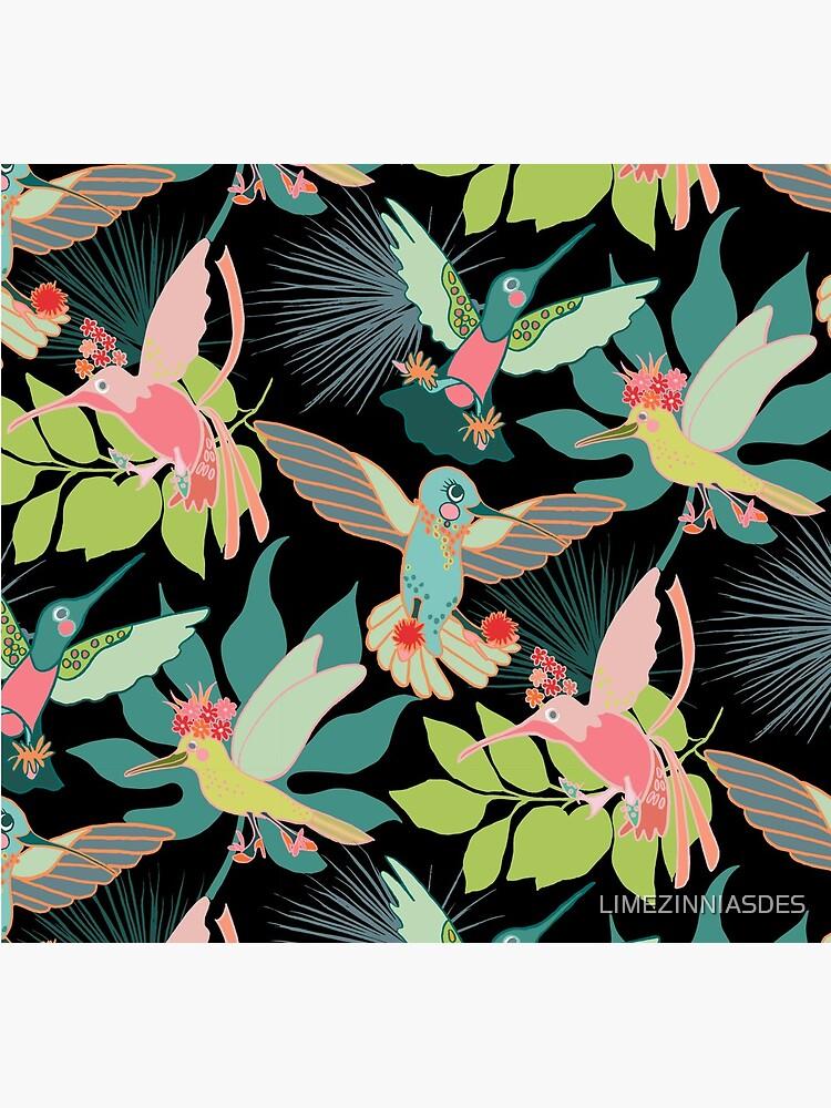 Hummingbird Paradise by LIMEZINNIASDES