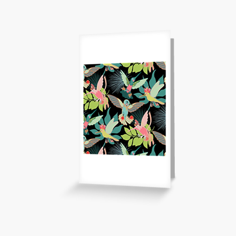 Hummingbird Paradise Greeting Card