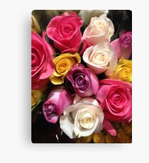 Multi Colored Roses Canvas Print