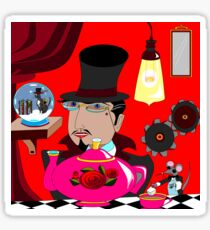 Mad Hattern Steampunk Style Sticker