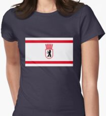 Flag of East Berlin (1956-1990) Women's Fitted T-Shirt