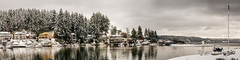A Snowy Harbor by Bryan Peterson