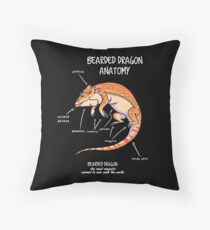 bearded dragon anatomy Throw Pillow