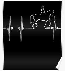 Horseback Riding Heartbeat Poster